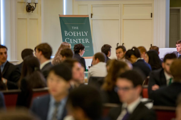 Images from the Mason School of Business's 12th annual Dog St to Wall Street event, produced by the Boehly Center for Financial Excellence, held at Miller Hall Friday September September 28, 2018. (Skip Rowland '83)