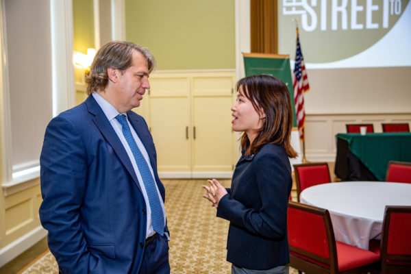 Images from the Mason School of Business's 13th annual Dog St to Wall Street event, produced by the Boehly Center for Financial Excellence, held at Miller Hall Friday September September 27, 2019. (Skip Rowland '83)