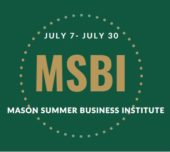 Green_and_Gold_Mason_Summer_Business_Institute_Logo_July_7_to_July_30